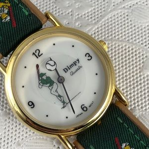 Vintage Baseball Watch Rotating Baseball by Dimpy